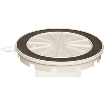Nalgene 5306-0130 White Polycarbonate Vacuum Plate, 343mm Diameter