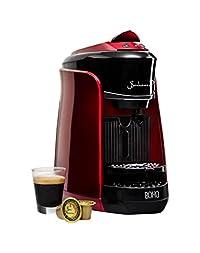 Bonhomia Boho Single Serve Coffee Maker Capsule, Passion Red, 5kg with 50 Bonhomia Coffee Capsules