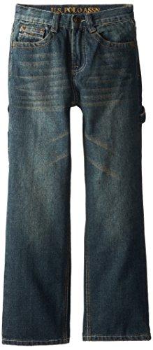 U.S. Polo Assn. Big Boys' Classic Fit Carpenter Jeans, Chucker, 14