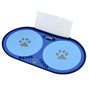 Crazy Paws Floor Mat for Dog, Small, Blue