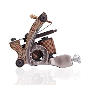 New Cast 10 Laps Coils Tattoo Machine Liner Shader Gun Hb-wgd012b