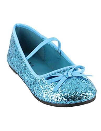 Flat Ballet Glitter Child Blue - Small
