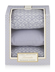 Floral Collection Lavender Fragranced Cushions Gift Set