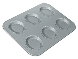 Fox Run Non-Stick 6-Cup Large Shallow Muffin Pan