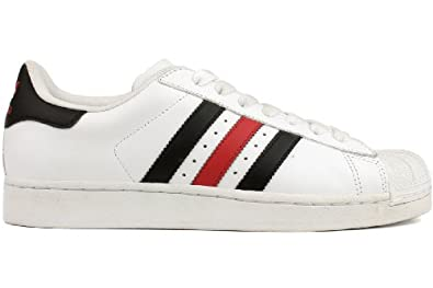 ADIDAS Originals Superstar 2 Sneaker White/Black/Red (Men) - 10