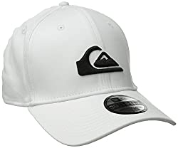 Quiksilver Men's Mountain and Wave Colors New Era Hat, White, Small/Medium