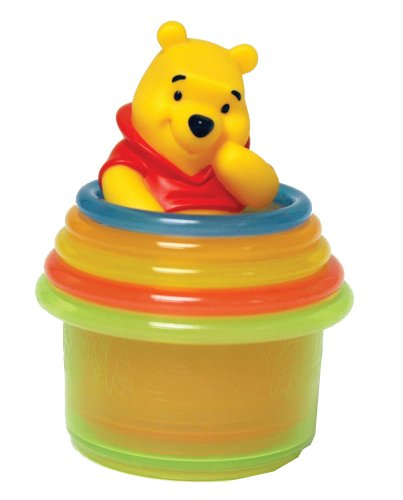 Learning Curve Disney Pooh Stacking Cups (Discontinued by Manufacturer) - 1