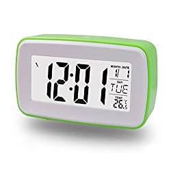 ZHPUAT DIY Snooze Alarm Clock, Make Your Own Ringing, Date & Temperature (Celsius & Fahrenheit) Display, Countdown Counter, Low Light Sensor Technology, Light On Backligt When Detect Low Light,Soft Light That Won't Disturb The Sleeping, Progressively