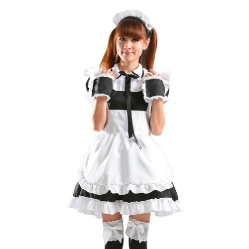 TOMSUIT Sweet Japanese Coffee Shop Maid Cosplay Costume Set