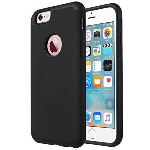 iPhone 6 Case, [Slim Fit] ULAK Sugar Candy [Anti-Slip] Drop Protection with Shock Absorbent [Hybrid PC & Silicone Case] Cover for Apple iPhone 6s / 6 - [Black] (Protective Iphone 6 Case Silicone compare prices)