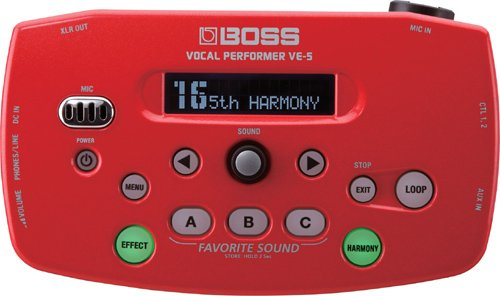 BOSS ボーカル専用エフェクター(レッド) Vocal Performer VE-5-RD