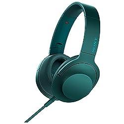 SONY h.ear on 密閉型ヘッドホン ハイレゾ音源対応 リモコン・マイク付 折りたたみ式 ビリジアンブルー MDR-100A/L