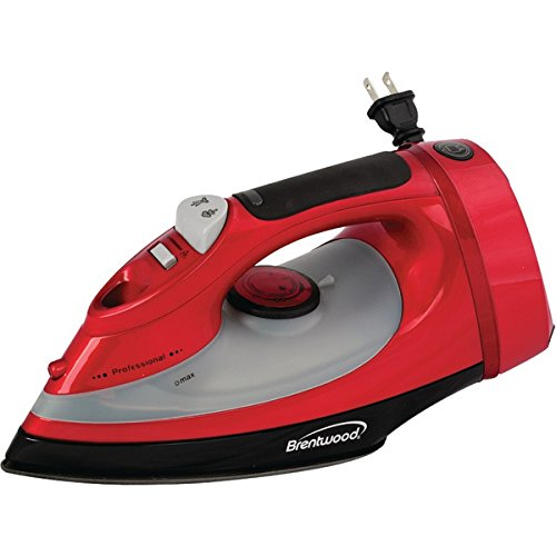 Brentwood Mpi-58 Full-Size Stream, Spray And Dry Iron (Red With Cord Storage; 1,400W) front-552731