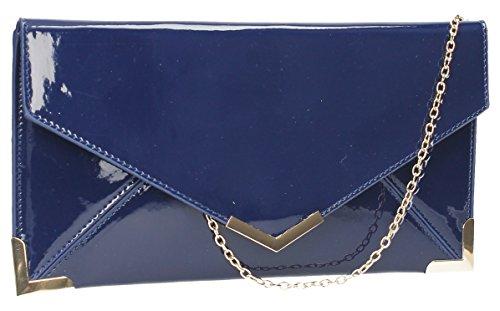 Fallabella Patent Leather Slim Envelope Womens