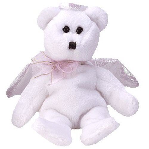 Ty Jingle Beanies Halo - Angel Bear - 1