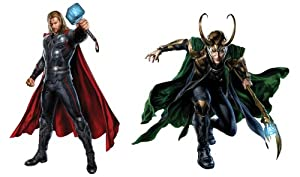 Avengers thor loki peel and stick wall for Avengers wall mural amazon