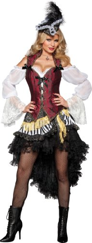 InCharacter Costumes High Seas Treasure, Black/Red/White, Large