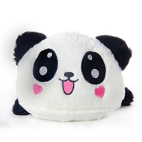 Leegoal Cute Love Heart Lying Plush Stuffed Panda Toy Pillow,Black White - 1