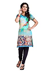 The Ethnic Chic Women's Sky Blue Color Georgette Kurti.