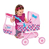 Hello Kitty Bella Doll's Pram with accompanying Toy Storage Bag