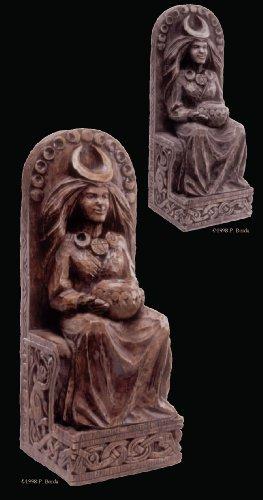 Seated Goddess Plaque - Stone Finish