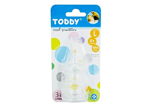 Toddy Silicone Teat Size L - Pack Of 3 Pieces front-477958