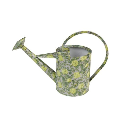 V&A Roses Watering Can - Yellow/ Grey