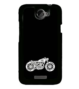 Racing Bike 2D Hard Polycarbonate Designer Back Case Cover for HTC One X :: HTC One X+ :: HTC One X Plus :: HTC One XT