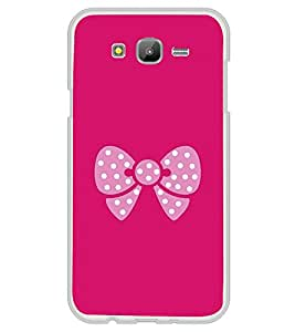 Pink Bow 2D Hard Polycarbonate Designer Back Case Cover for Samsung Galaxy E5 (2015) :: Samsung Galaxy E5 Duos :: Samsung Galaxy E5 E500F E500H E500HQ E500M E500F/DS E500H/DS E500M/DS