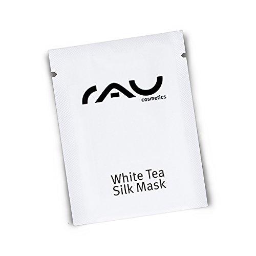 RAU White Tea Silk Mask 1,5 ml - Masque visage relaxant apaisant régénérant. Masque hydratant douceur au thé blanc, aux protéines de soie et aux huiles végétales. Soin visage anti-âge. Apaise, hydrate et regénère votre peau!
