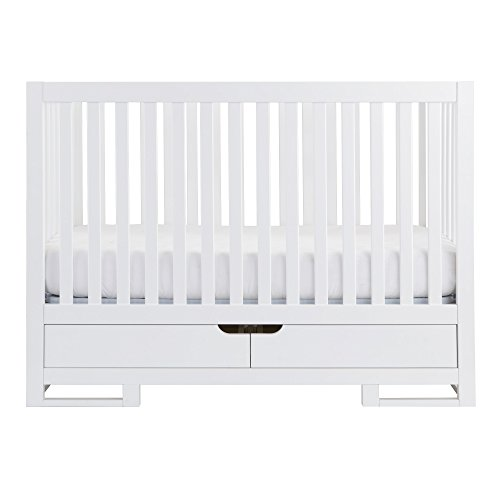 Karla DuBois Baby Oslo Convertible Crib with Drawer, Pure White