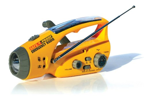 Safe-T-Proof Solar, Hand-Crank Emergency Radio,