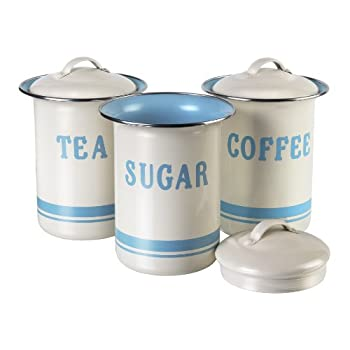 JAMIE OLIVER Vintage Inspired Coffee, Tea and Sugar Tin Set