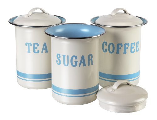 JAMIE OLIVER Vintage Inspired Coffee, Tea and Sugar Tin Set 1