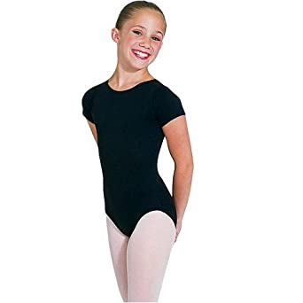Capezio Girl's Short Sleeve Durable Leotard RED L