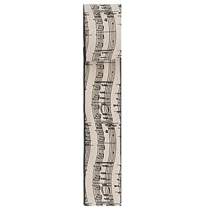 "Kurt Adler 2.5""x10 Yards Musical Notes Wire Woven Ribbon"