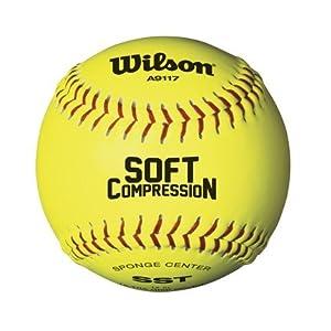 Buy 12 Soft Compression Level 1 Softballs from Wilson - 1 Dozen by Wilson