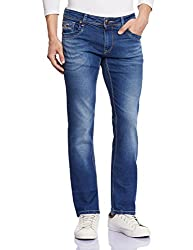Lawman Men's Slim Fit Jeans (8907201952980_PG3 KMN-1552STR SLMFT CLRNBL_32W x 34L_Blue)