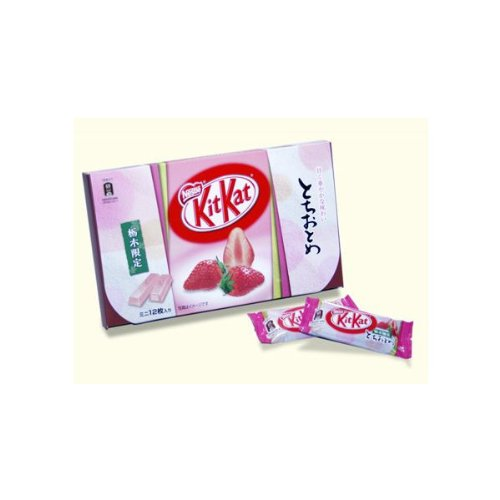 Virgin Kit Kat Chi and strawberries in Tochigi...