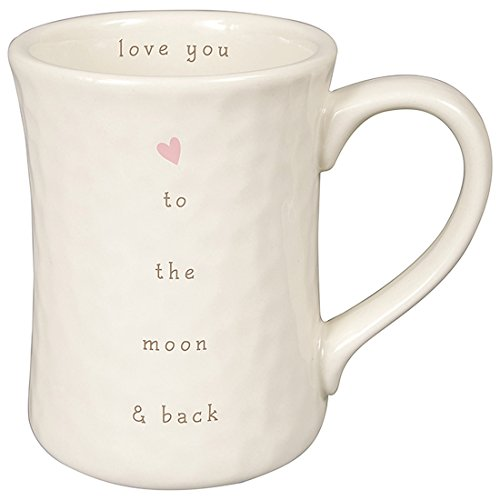 Love You to the Moon and Back 12 ounce White Ceramic Stoneware Coffee Mug