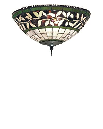 Artistic Lighting English Ivy 2-Light Ceiling Mount, Bronze