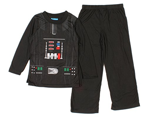 Star Wars Darth Vader Boys Costume Pajama Set (Medium (7-8))