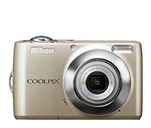 Nikon COOLPIX L24 14 MP Digital Camera with 3.6x NIKKOR Optical Zoom Lens and 3-Inch LCD (Silver) (OLD MODEL)