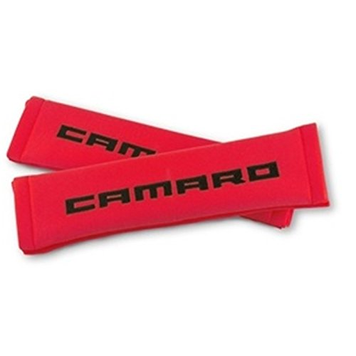 Camaro Seatbelt Harness Pad Red w/ Black (Seat Belt Harness Pads compare prices)