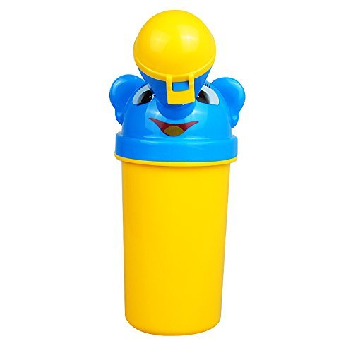 Portable Travel Urinal Car Toilet Camping Boy Girl Kid Potty Vehicular Training Travel urination (Yellow (Boy)) (Paw Patrol Potty Chart compare prices)