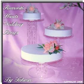 3 Tier Wedding Cake Cascading Stands
