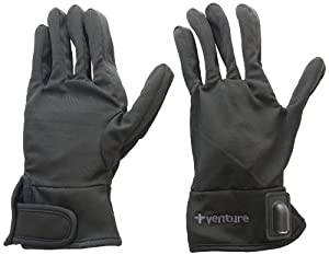 Venture Heated Clothing Motorcycle Glove Liners keeps your fingers and hand warm. Simply hook up with these glove liners with your motorcycle's battery and you're good to go for a ride. Heating elements are strategically positioned along the perimeter of your hands for utmost comfort.