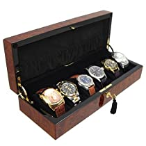 Orbita Zurigo 6 Watch Burl Collectors Case