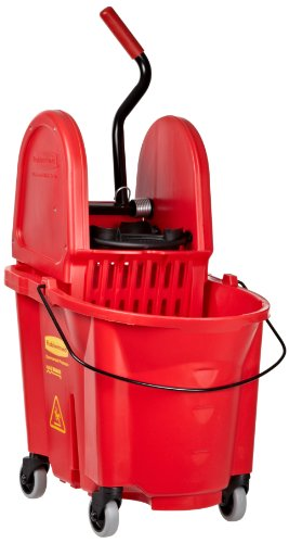 Rubbermaid Commercial Fg757888Red Wavebrake Down Press Combo High-Performance Mopping System, 35-Quart Capacity, Red