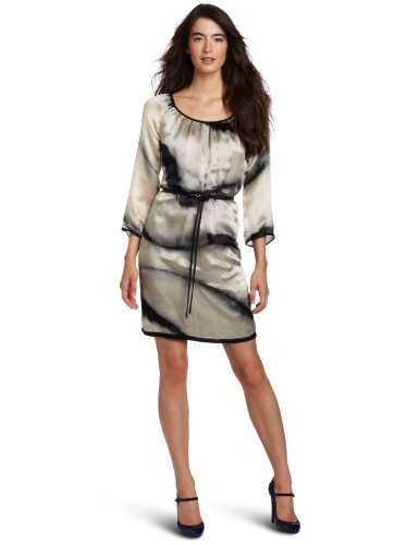 Cluny Women's Zebra Printed Tunic Dress, Black/White, 2
